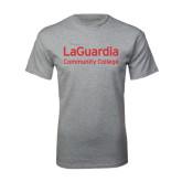 Grey T Shirt-LaGuardia Wordmark
