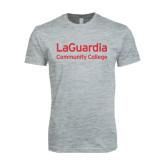 Next Level SoftStyle Heather Grey T Shirt-LaGuardia Wordmark