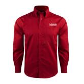 Red House Red Long Sleeve Shirt-LaGuardia Wordmark