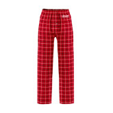 Red/Black Flannel Pajama Pant-LaGuardia Wordmark