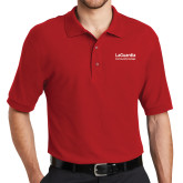 Red Easycare Pique Polo-LaGuardia Wordmark