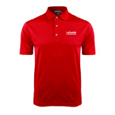 Red Dry Mesh Polo-LaGuardia Wordmark