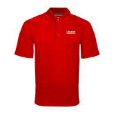 Red Mini Stripe Polo-LaGuardia Wordmark