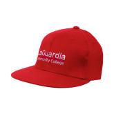 Red OttoFlex Flat Bill Pro Style Hat-LaGuardia Wordmark