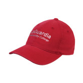 Red OttoFlex Unstructured Low Profile Hat-LaGuardia Wordmark