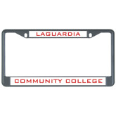 Metal License Plate Frame in Black-LaGuardia