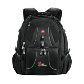 Wenger Swiss Army Mega Black Compu Backpack-LaGuardia Red Hawks