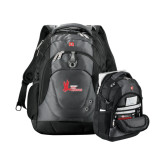 Wenger Swiss Army Tech Charcoal Compu Backpack-LaGuardia Red Hawks