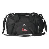 High Sierra Black Switch Blade Duffel-LaGuardia Red Hawks