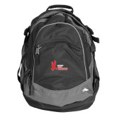High Sierra Black Titan Day Pack-LaGuardia Red Hawks