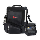 Momentum Black Computer Messenger Bag-LaGuardia Red Hawks