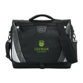 Lahman Slope Black/Grey Compu Messenger Bag-University Mark