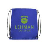 College Royal Drawstring Backpack-University Mark