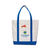 Contender White/Royal Canvas Tote-University Mark