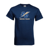 Navy T Shirt-Indoor Track And Field
