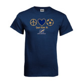Navy T Shirt-Just Kick It