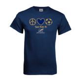Navy T Shirt-Just Kick It