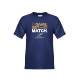 Youth Navy T Shirt-Game Set Match