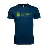 Next Level SoftStyle Navy T Shirt-Flat University Mark