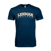 Next Level SoftStyle Navy T Shirt-Arched Lehman College