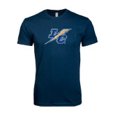 Next Level SoftStyle Navy T Shirt-LC Lightning