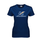 Lahman Ladies Navy T Shirt-LC Lightning Stacked