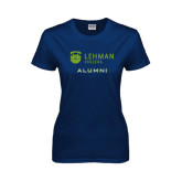 Lahman Ladies Navy T Shirt-Alumni