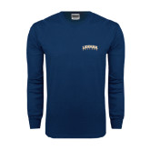 Navy Long Sleeve T Shirt-Arched Lehman College