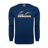 Navy Long Sleeve T Shirt-Swim and Dive Design