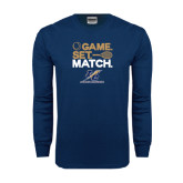 Navy Long Sleeve T Shirt-Game Set Match
