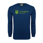 Navy Long Sleeve T Shirt-Flat University Mark