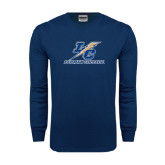 Navy Long Sleeve T Shirt-LC Lightning Stacked