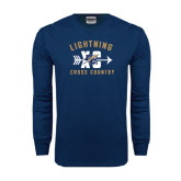 Navy Long Sleeve T Shirt-Lightning Cross Country