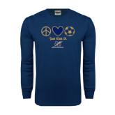 Navy Long Sleeve T Shirt-Just Kick It