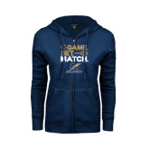 ENZA Ladies Navy Fleece Full Zip Hoodie-Game Set Match