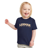Toddler Navy T Shirt-Arched Lehman College