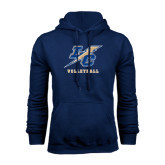 College Navy Fleece Hoodie-Volleyball