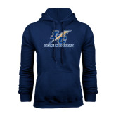 College Navy Fleece Hoodie-LC Lightning Stacked