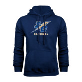 College Navy Fleece Hoodie-Baseball