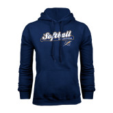 College Navy Fleece Hoodie-Softball Script