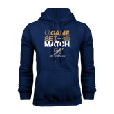 College Navy Fleece Hoodie-Game Set Match