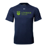 Under Armour Navy Tech Tee-Flat University Mark