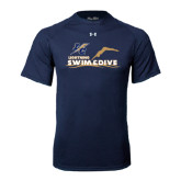 Under Armour Navy Tech Tee-Swim and Dive Design