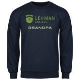 College Navy Fleece Crew-Grandpa