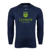 Under Armour Navy Long Sleeve Tech Tee-University Mark