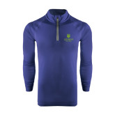 College Under Armour Navy Tech 1/4 Zip Performance Shirt-University Mark