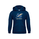 College Youth Navy Fleece Hoodie-Softball
