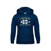 College Youth Navy Fleece Hoodie-Lightning Cross Country