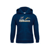 College Youth Navy Fleece Hoodie-Swim and Dive Design