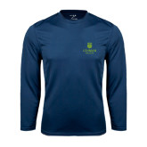 College Performance Navy Longsleeve Shirt-University Mark
